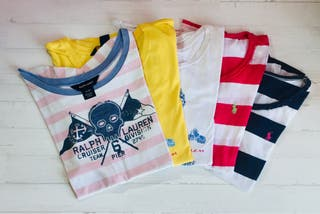Pack 5 camisetas Ralph Lauren