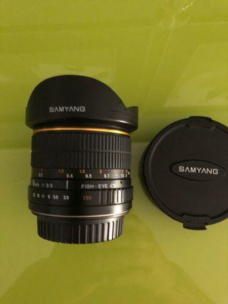 Objetivo Samyang 8mm ojo de pez canon