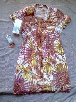 Vestido en lino Tropical