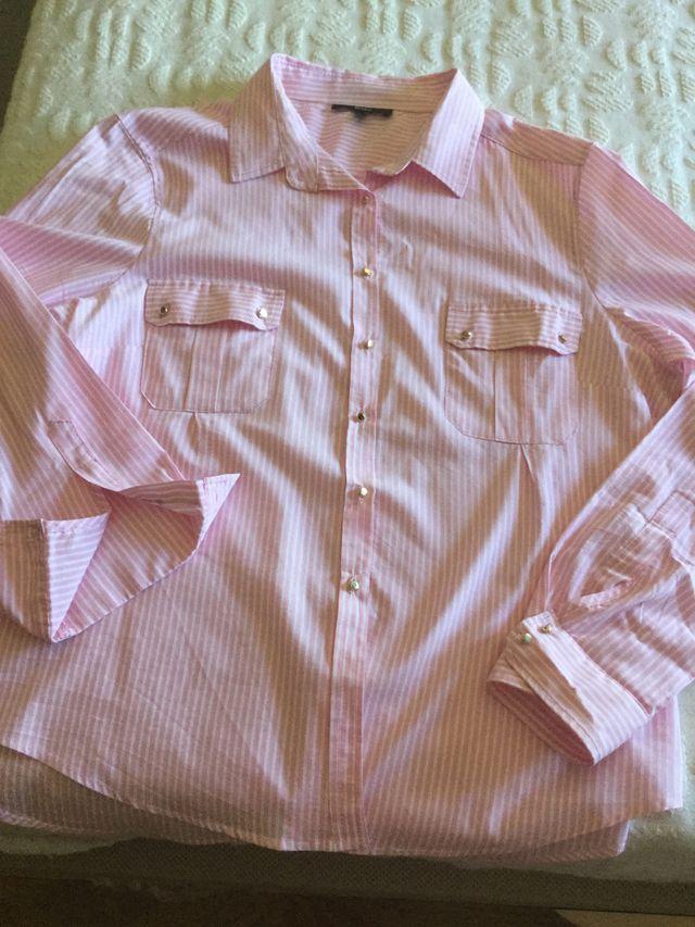 Blusa de rallas rosas y barcas tejido verano