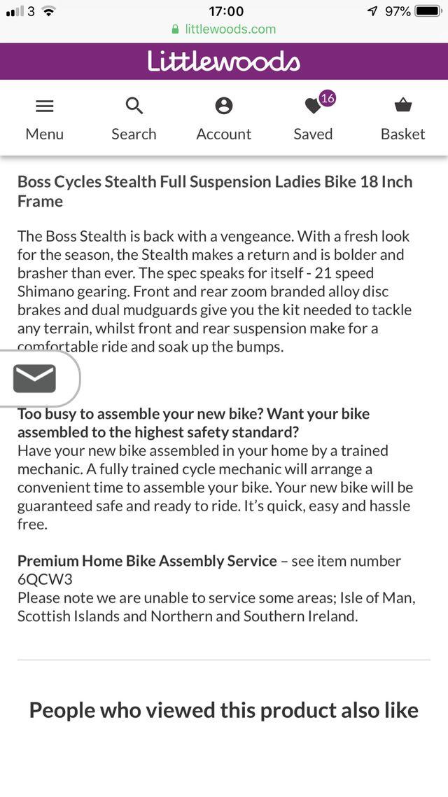 Boss ladies bike