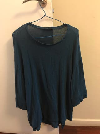 Jersey largo Azul de Zara