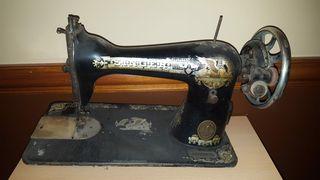 máquina de coser antigua singer cabeza sola