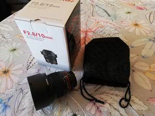 Objetivo Samyang 10 f2.8 para Nikon DX