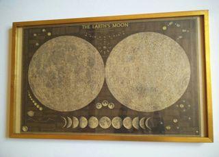 Cuadro grande dorado luna