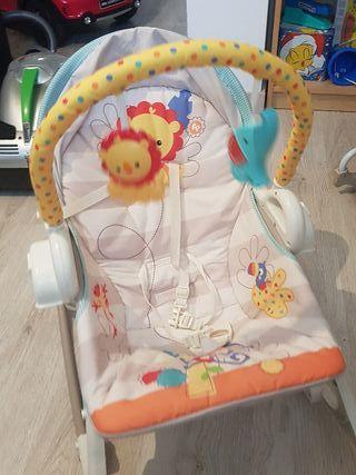hamaca bebé con columpio de fisher price