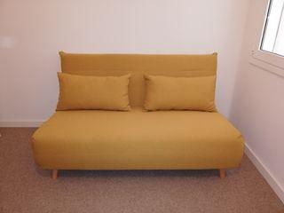 Sofa-cama 2 plazas Maisons du Monde amarillo