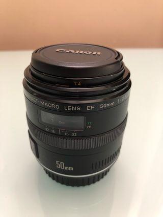 Objetivo Canon 50mm macro