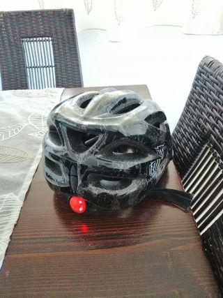 Casco Bicicleta con luz nocturna