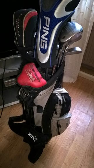 ping G2 Irons + Driver+extra clubs.