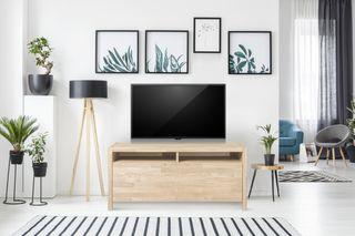 Mesa de TV Aparador Madera Maciza Roble Nordico