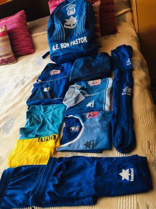 Pack completó de ropa de fútbol bon pastor