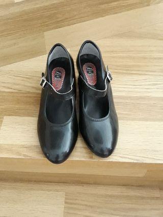 Zapatos baile niña negro