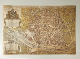 Mapa de Valencia plano Padre Tosca 66 x 99 cm