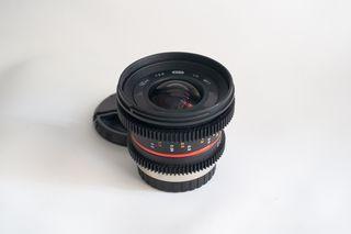 Lente Objetivo Samyang cine micro43 mft 12mm