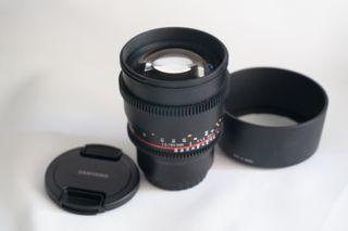 Lente Objetivo Samyang cine micro43 mft 85mm