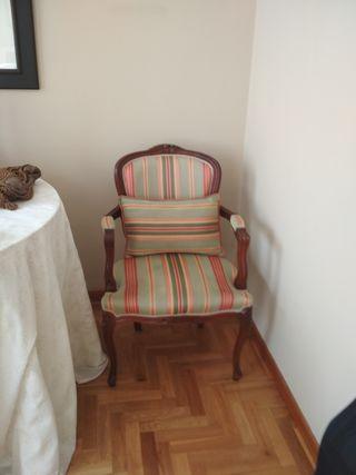 silla isabelina madera