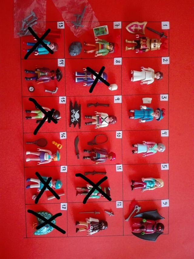Playmobil figuras a 2€ cada una