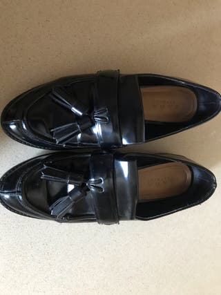Zapatos mocasines negros zara