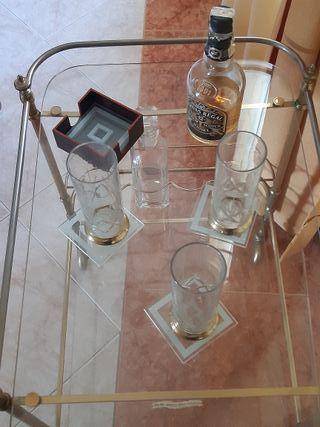 Camarera de cristal Art Decó de Mauricio Feher