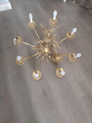 Lámpara de araña de 8 brazos