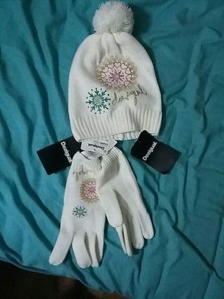 conjunto de gorro y guantes .nuevos