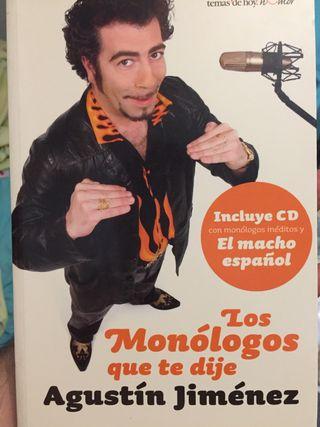 Libro monólogos Agustin Jiménez + CD