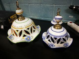 lámpara rústica artesanal