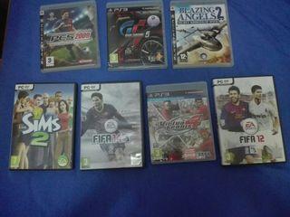 Pack de videojuegos.