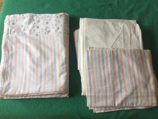 2 juegos de sábanas 0.90 algodón