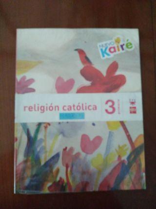 libro religión católica 3º primaria SM nuevo kairé