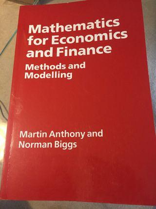 Mathematics for Economics and Finance