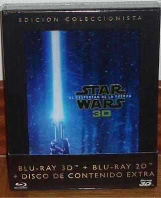STAR WARS VII DIGIPACK BLU-RAY 3D + 2D PRECINTADO