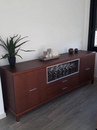 Mueble bufette wengue