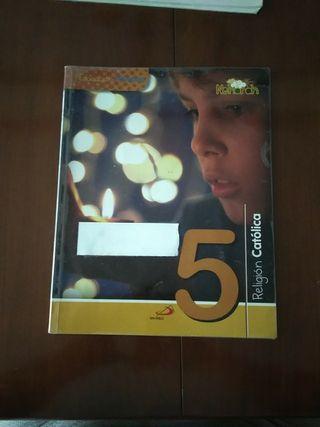 libro religión católica Nehorah 5º primaria