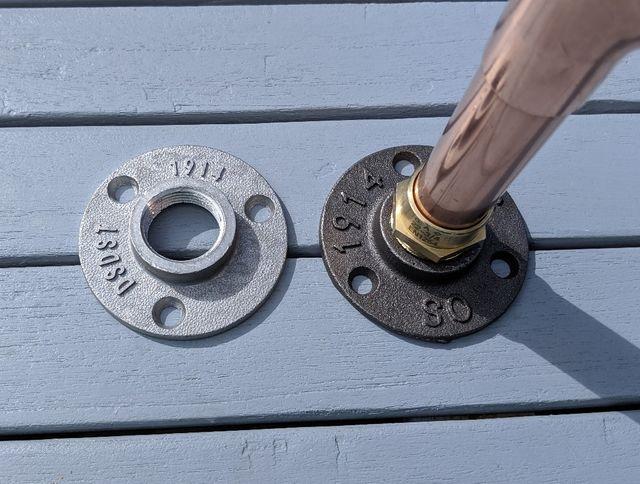 Industrial Copper Pipe Shelf Brackets