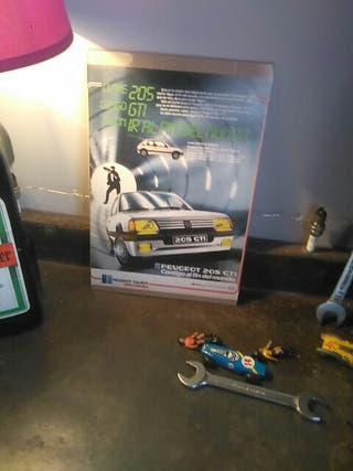 publicidad Peugeot 205 gti