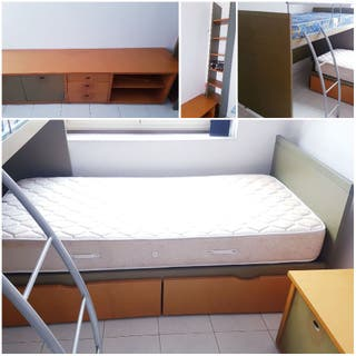 Dormitorio infantil juvenil 2 camas