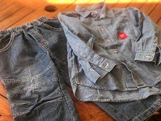 Camisa y pantalón vaquero niño