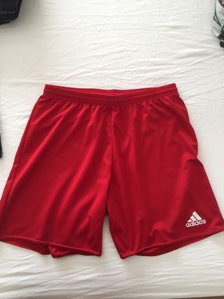Pantalón de deporte Adidas rojo