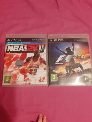 NBA 2K11 Y F1 2010 CAMBIO