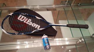 Raqueta squash Wilson NUEVA y pelotas