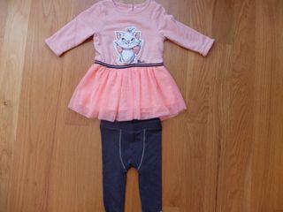 Conjunto vestido/pantalón bebe niña (ORCHESTRA 6m)