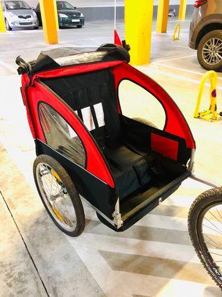 Carrito bicicleta para niño 2 plazas