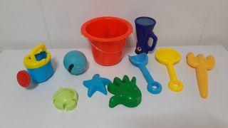 Lote de juguetes para jugar en la arena