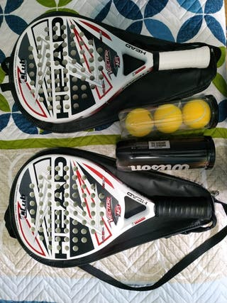 2 Palas padel head vector
