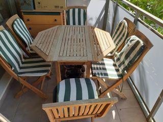 Mesa de jardín con 6 sillas de TEKA de segunda mano por 150