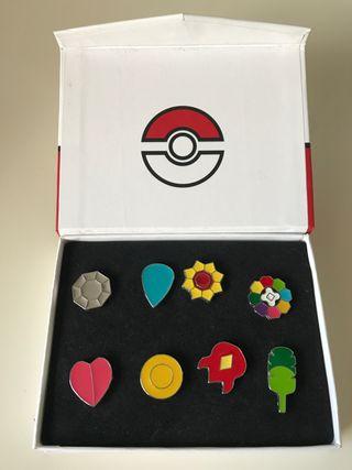 Pins medallas Kanto Pokemon