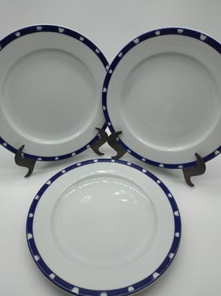 Juego de 3 platos porcelana Principado