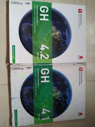 Libros de Geografía e Historia 4ESO
